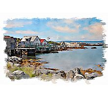 Indian Harbour watercolour Photographic Print