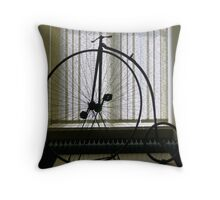 Penny Farthing bicycle Throw Pillow