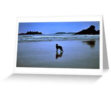 The surfers devoted friend Greeting Card