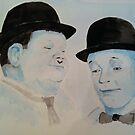 Laurel &amp; Hardy a Wistful Moment by dennysart