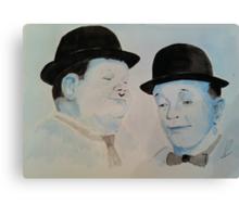 Laurel & Hardy a Wistful Moment Canvas Print