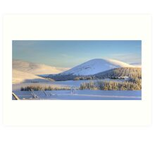 Winter Scene - Scottish Highlands Art Print