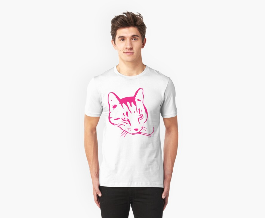 Party Cat (Pink on Yellow) by ChrisMMiller