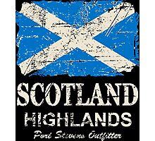 Scotland Flag - Vintage Look Photographic Print