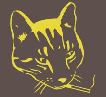 Party Cat (Yellow on Dark Grey) by ChrisMMiller