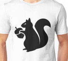 Squirrel With Acorn Silhouette Unisex T-Shirt