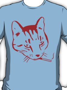 Party Cat (Red on Light Blue) T-Shirt