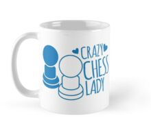 Crazy Chess Lady with chess pieces pawns Mug