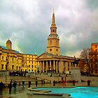 The National Gallery, St. Martin in the Fields and Trafalgar Square by ElsieBell