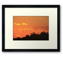 """A sunset saying """"take my picture"""" Framed Print"""