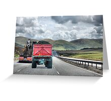 A Road with a view. Greeting Card