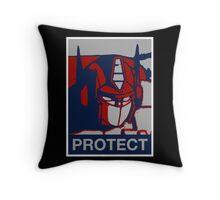 Optimus Prime - Protect Throw Pillow