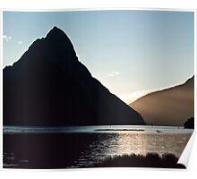 Mitre Peak sunset Poster