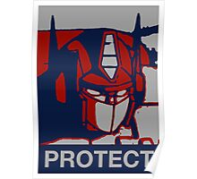 Optimus Prime - Protect Poster