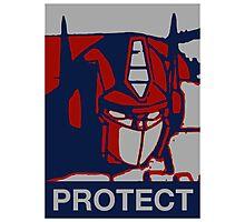 Optimus Prime - Protect Photographic Print