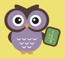 Math Teacher Owl One Piece - Short Sleeve
