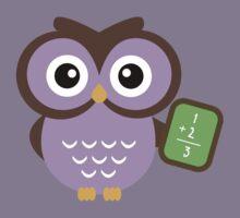Math Teacher Owl Kids Clothes