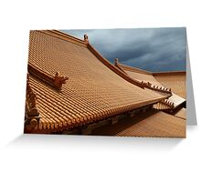 Buddhist Temple Roof Photo Greeting Card