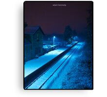 Bathed In A Blue Light Canvas Print
