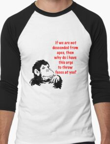 Descended From Apes Men's Baseball ¾ T-Shirt
