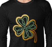 Green N Gold Shamrock   Long Sleeve T-Shirt