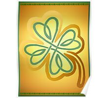 Green N Gold Shamrock   Poster
