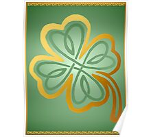 Green N Gold Shamrock 2 Poster