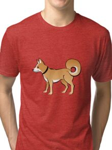 Cartoon Dog Tri-blend T-Shirt