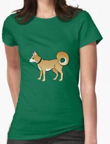 Cartoon Dog Womens Fitted T-Shirt
