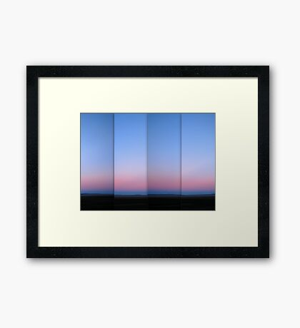 Lake George at Dusk - Polyptych Framed Print
