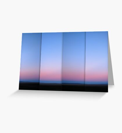 Lake George at Dusk - Polyptych Greeting Card