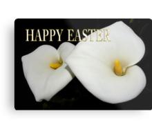classic calla lilies easter card Metal Print