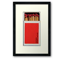 Box of Matches Phone Cover Framed Print