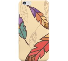 Bohemian colorful feathers, hand drawn iPhone Case/Skin