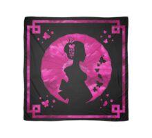 Geisha Silhouette - Spring Blossom - Black Scarf