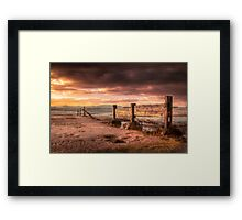 The Fence Framed Print