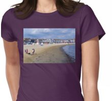 Family at Weymouth Beach. Dorset UK Womens Fitted T-Shirt