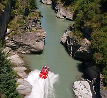 Shotover Gorge and jet by Ian Fegent