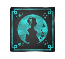 Geisha Silhouette - Sea Breeze - Black Scarf