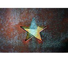Rusty Star Photographic Print