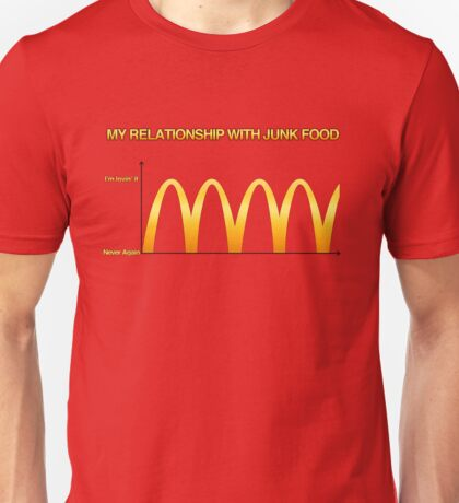 My Relationship With Junk Food Graph Unisex T-Shirt