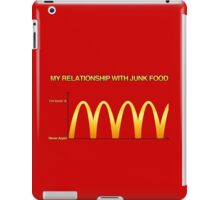 My Relationship With Junk Food Graph iPad Case/Skin