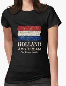 Holland Flag - Vintage Look Womens Fitted T-Shirt