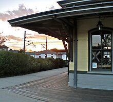 Sun sets  on the Depot at Kingston - 2010 by Jack McCabe