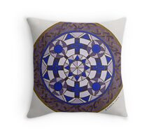 Medieval Viking Brooch Throw Pillow