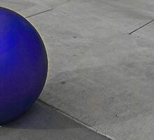 Blue ball by Jeffrey  Sinnock