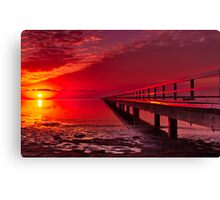 """Swan Bay Red"" Canvas Print"