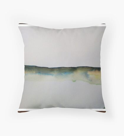 painted sun in abstract Throw Pillow