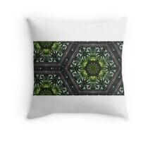 Stained glass greenery Throw Pillow