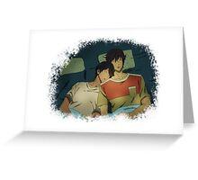 MakoHaru Camping Greeting Card